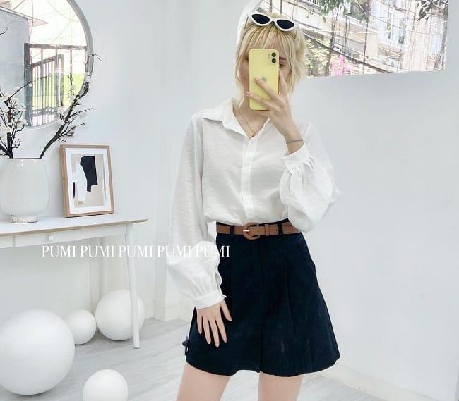Shop áo sơ mi nữ trắng TPHCM Pumi