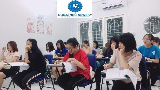 Lớp học tiếng nhật tại trung tâm ngoại ngữ Newsky