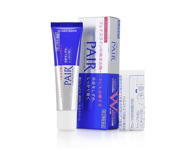 Kem trị mụn Pair Acne Lion Cream W Nhật Bản là TOP 10 Kem trị mụn tốt được nhiều người sử dụng nhất hiện nay