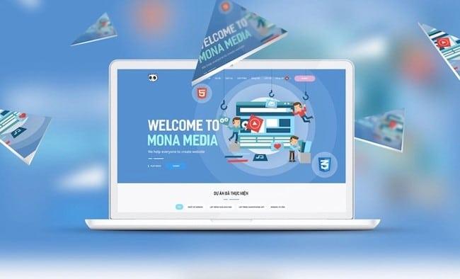 thiết kế web mona