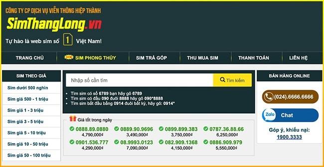 Simthanglong.vn là TOP 10 web bán sim số đẹp TPHCM uy tín giá rẻ