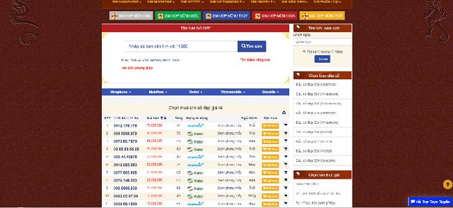 Web Mua Sim Số Đẹp là TOP 10 web bán sim số đẹp TPHCM uy tín giá rẻ