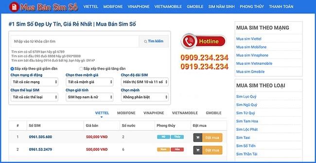 Web Mua Bán Sim Số là TOP 10 web bán sim số đẹp TPHCM uy tín giá rẻ