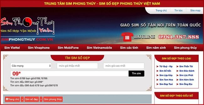 Web Sim Phong Thủy là TOP 10 web bán sim số đẹp TPHCM uy tín giá rẻ