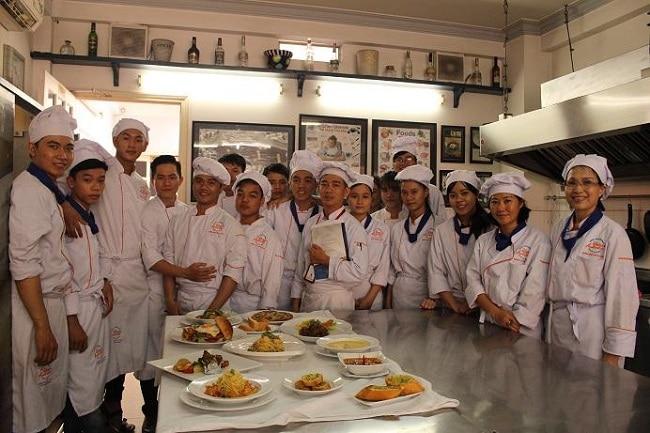 trung tâm dạy học nấu ăn