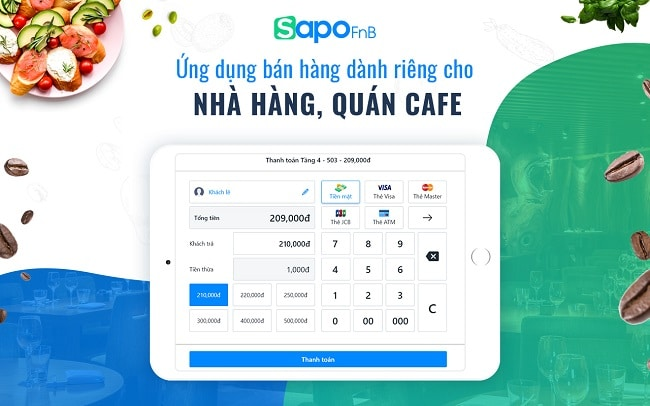 Phần mềm quản lý quán cafe Sapo