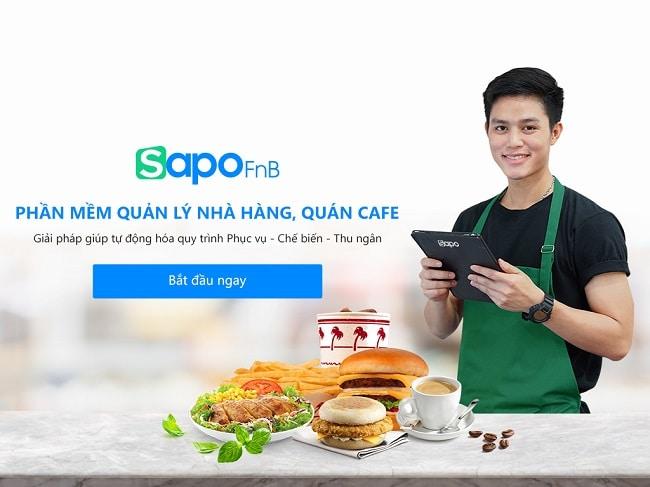 Phần mềm quản lý nhà hàng Sapo