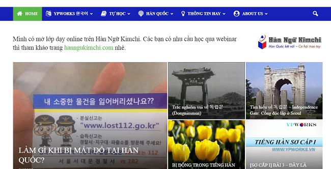 Học tiếng Hàn Online cơ bản