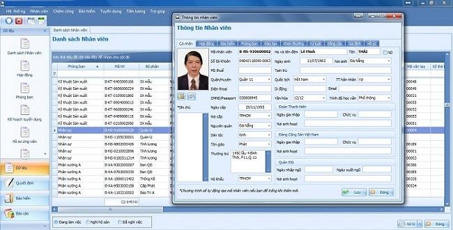 Phần mềm quản lý nhân sự online miễn phí