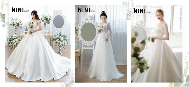 1 số mẫu váy cưới tại Nini Store