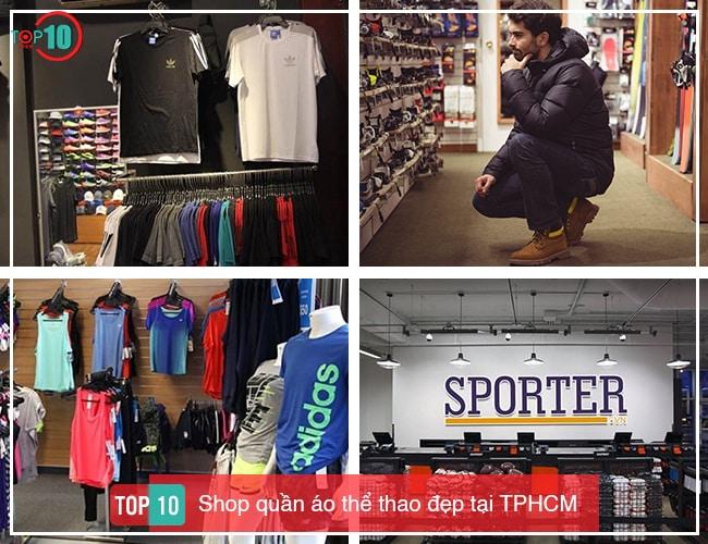 Shop quần áo thể thao đẹp tại TPHCM