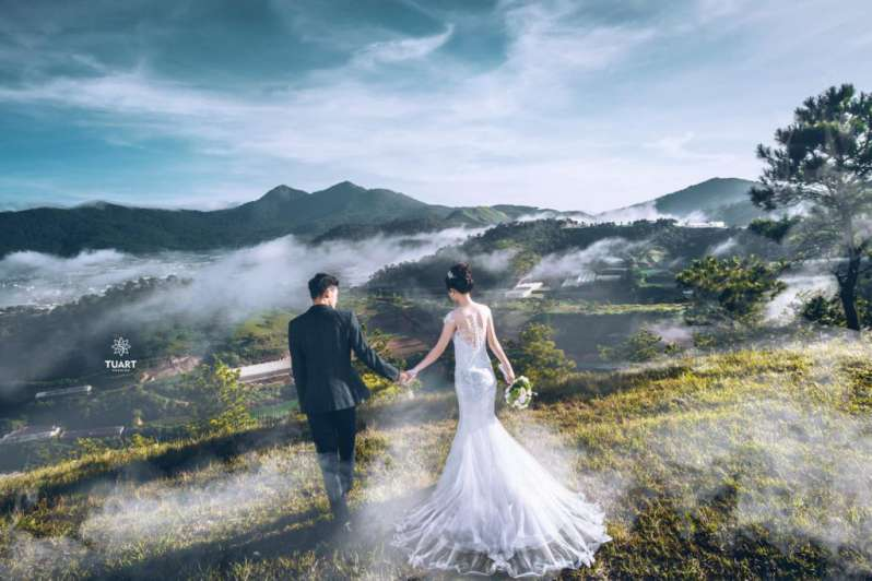 Top 10 địa điểm chụp ảnh cưới Đà Lạt  - đồi chè cầu đất farm