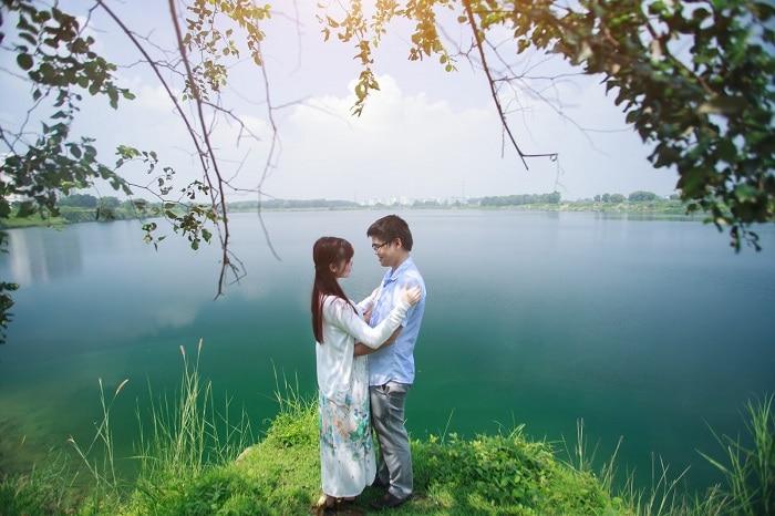 20 Địa điểm chụp ảnh cưới đẹp ở Sài Gòn đẹp nhất - Hồ đá Thủ Đức
