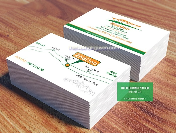 Top 5 dịch vụ in in card visit / name card giá rẻ nhất TPHCM Khải Nguyên