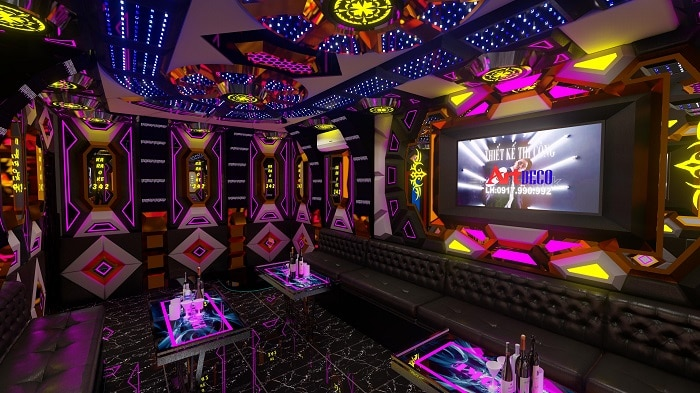 Top 5 Dịch vụ thiết kế thi công trọn gói karaoke uy tín tại TPHCM art deco