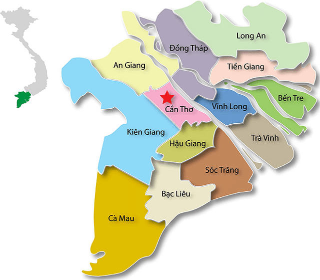 Danh sách 63 tỉnh thành Việt Nam Đồng Bằng Sông Cửu Long