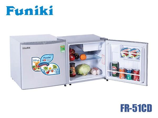 Top 10 tủ lạnh mini giá rẻ tiết kiệm điện đáng mua nhất 2020 Tủ lạnh Funiki FR-51CD