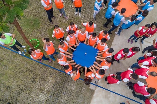 trò chơi tập thể rèn luyện kỹ năng làm việc nhóm