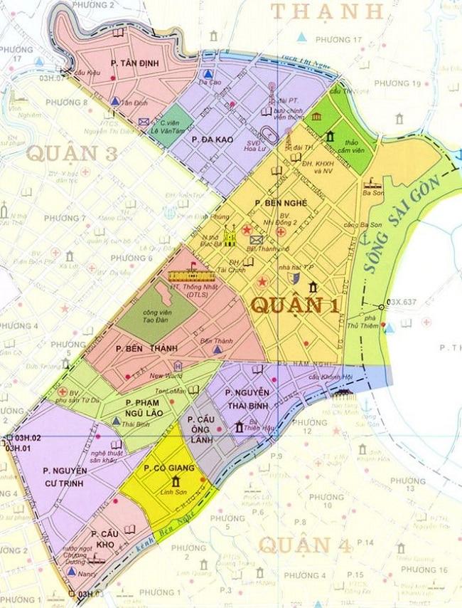 Bản đồ Quận 1 TP.HCM