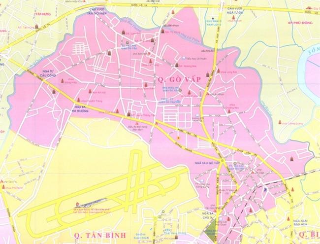 Bản đồ Quận Gò Vấp TP.HCM