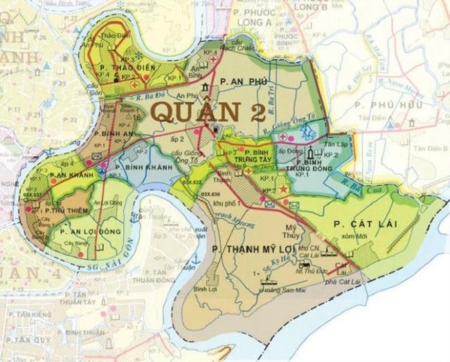 Bản đồ Quận 2 TP.HCM