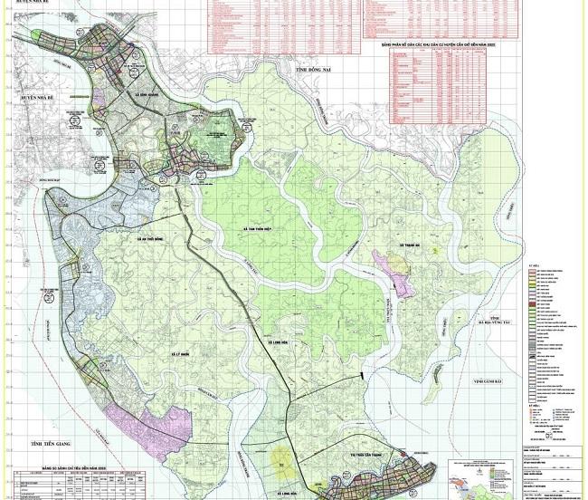 Bản đồ Huyện Cần Giờ TP.HCM mới nhất