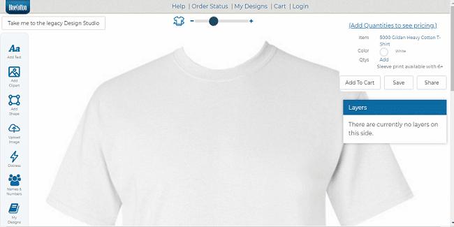 Thiết kế áo thun Online Bluecotton