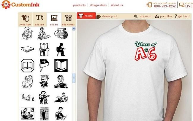 Thiết kế áo thun Online Customink