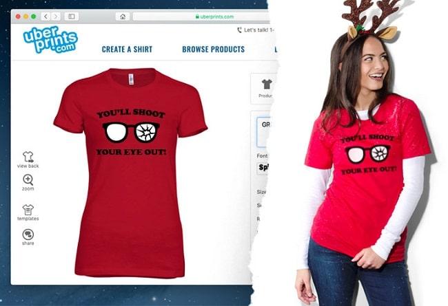 Thiết kế áo thun Online Uberprints