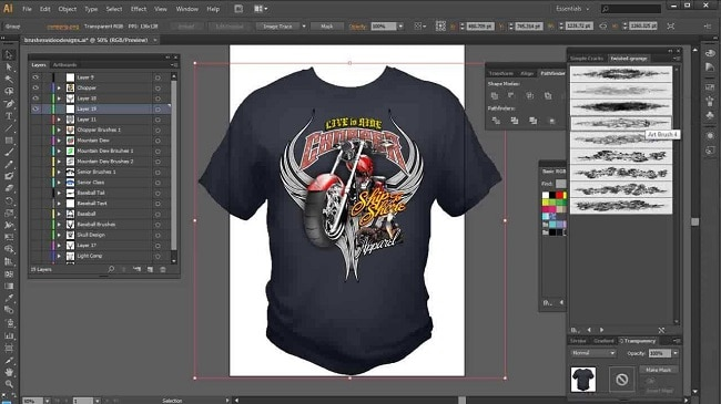 thiết kế áo thun Online illustrator