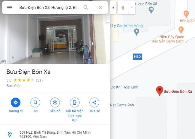 Bưu cục quận Bình Tân - Bốn Xã