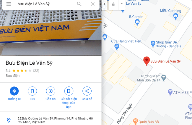 Bưu điện quận Phú nhuận - Lê Văn Sỹ