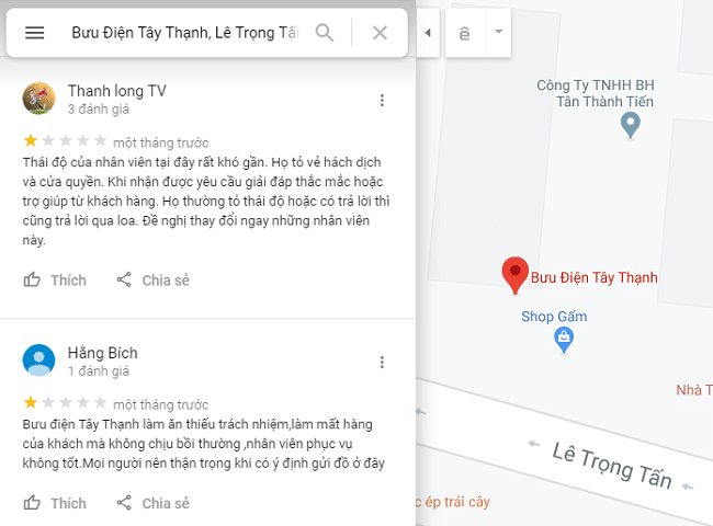 Bưu điện quận Tân Phú - Tây Thạnh