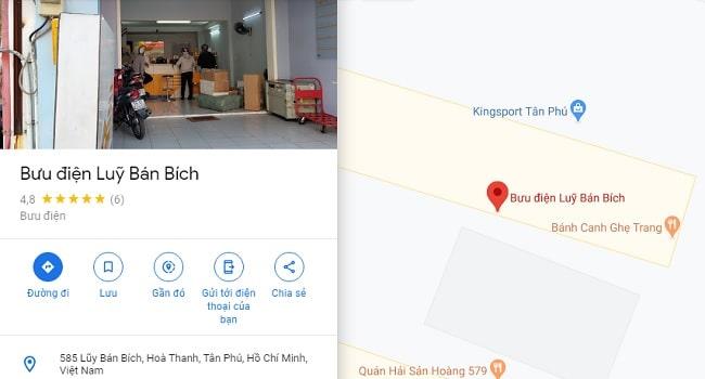 Bưu điện quận Tân Phú - Lũy Bán Bích