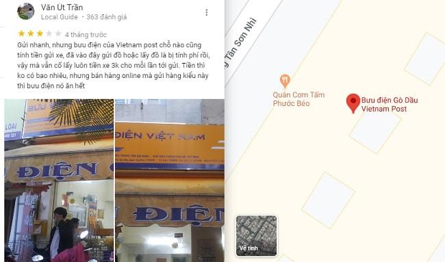 Danh sách bưu điện Quận Tân Phú