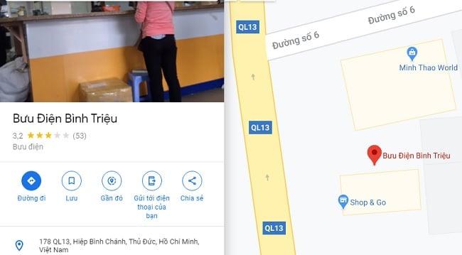Bưu điện quận Thủ Đức - Bình Triệu