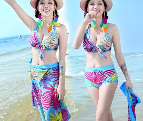 Bật mí những cách quấn khăn giúp bạn thêm quyến rũ khi đi biển