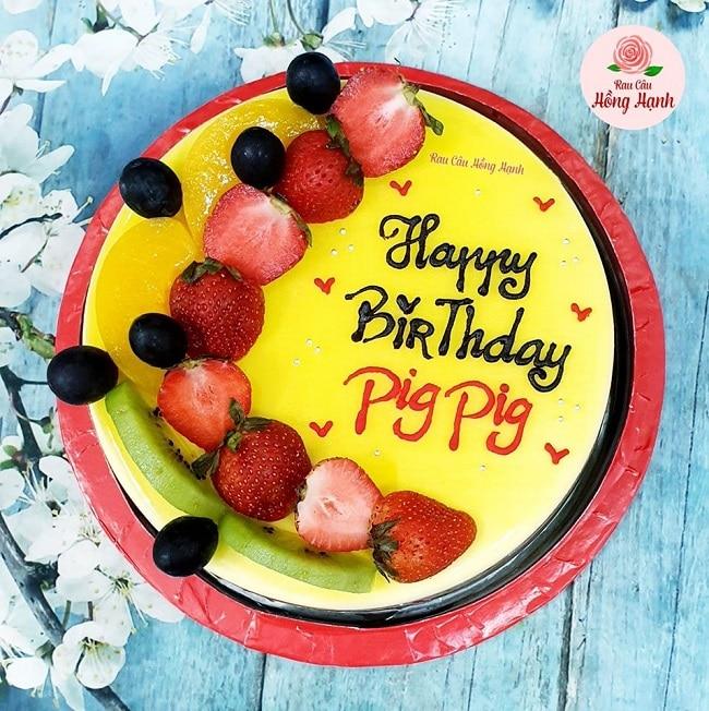 Bánh kem sinh nhật rau câu Bánh kem Hồng Hạnh