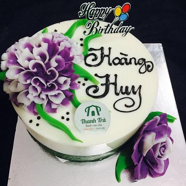 Bánh kem sinh nhật rau câu Thanh Trà
