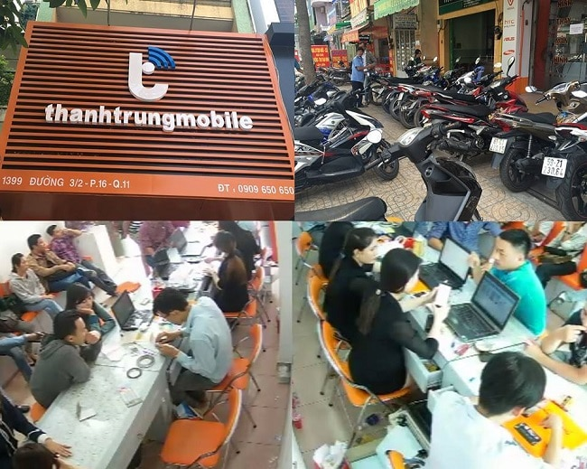 Sửa chữa điện thoại Iphone Thành Trung Mobile