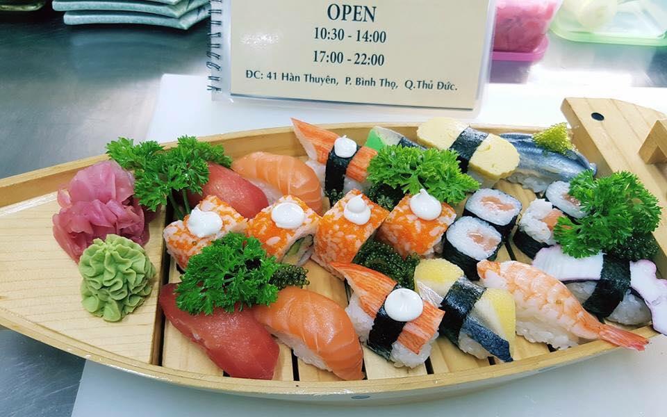 Quán ăn ngon thủ đức sushi thủ đức
