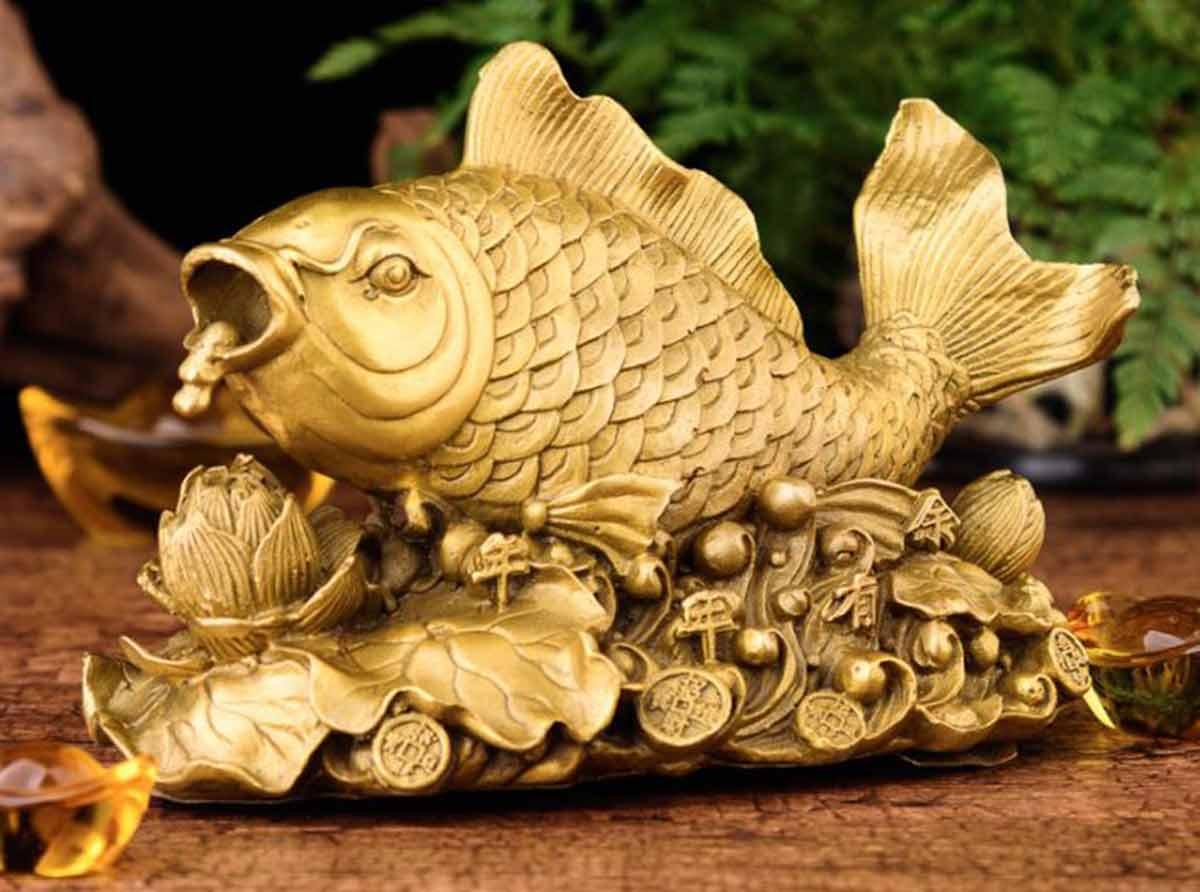 Quà tặng tân gia - tượng cá chép