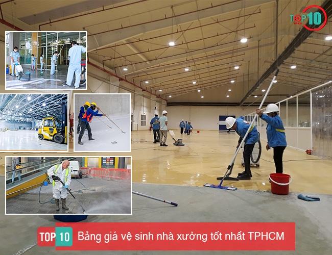 Bảng giá vệ sinh nhà xưởng TPHCM
