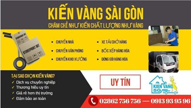 Chuyển nhà trọn gói Quận 1 - Kiến Vàng Sài Gòn