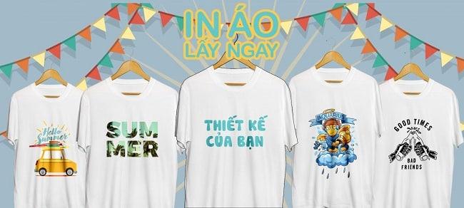 Dịch vụ in áo thun rẻ đẹp nhất TPHCM