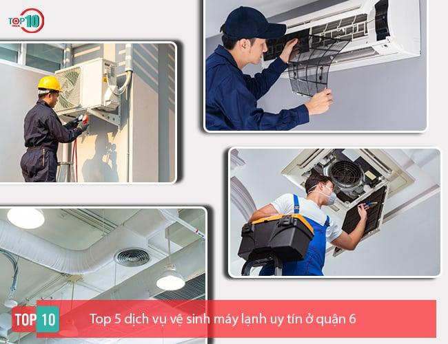 dịch vụ vệ sinh máy lạnh uy tín ở quận 6