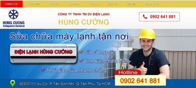 Dịch vụ vệ sinh máy lạnh uy tín quận 1-Hùng Cường