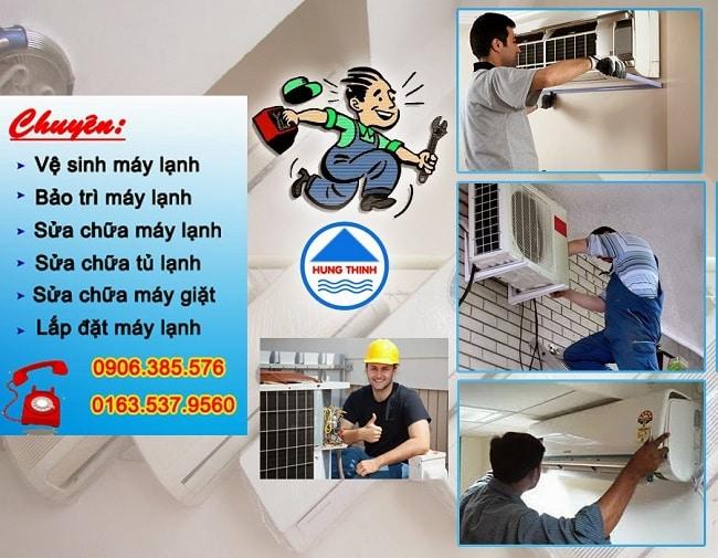 Dịch vụ vệ sinh máy lạnh uy tín quận 7-Hưng Thịnh
