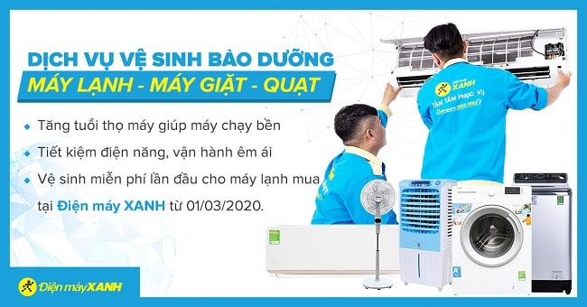Dịch vụ vệ sinh máy lạnh uy tín TPHCM-Điện máy xanh