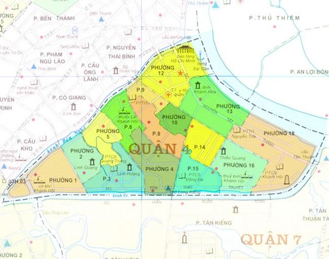 Các tuyến đường tại Quận 4 TPHCM
